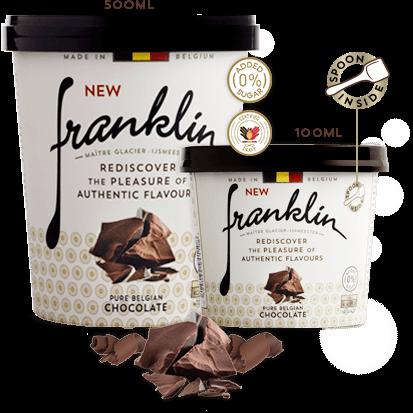 Pure Belgian chocolate