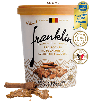 Belgian speculoos with a hint of sea salt
