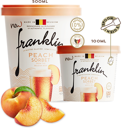 Peach Sorbet with the Belgian Beer